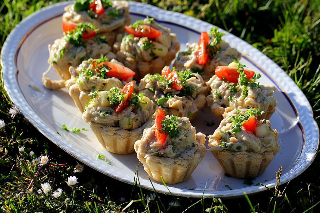 Opskrift på tarteletter - Høns i asparges helt fra bunden...