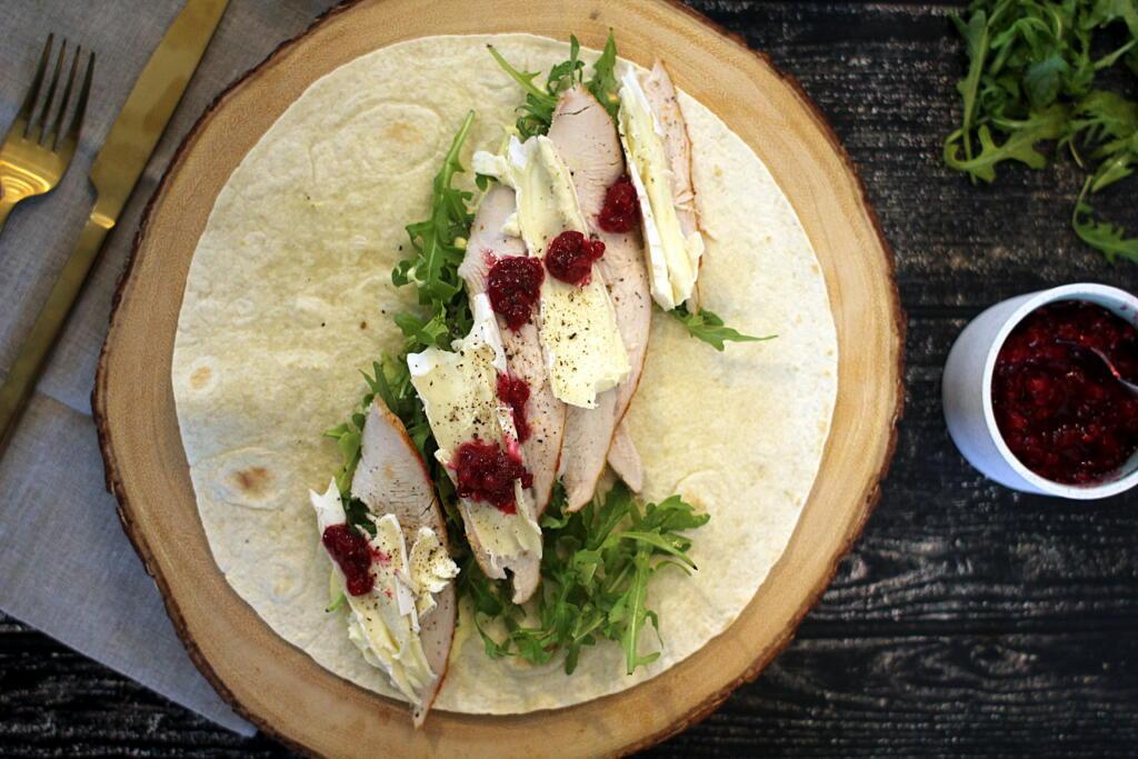 Thankgiving Tema: Kalkun wrap med brie og tyttebærsauce!