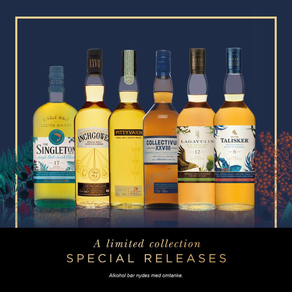 """Online """"Special Release"""" smagning med whisky fra Diageo!"""