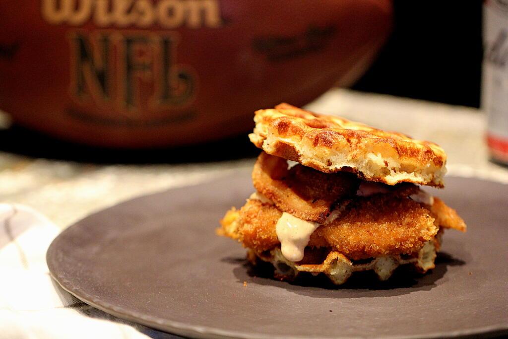 "Super Bowl Menu: ""Chicken and Waffles"""