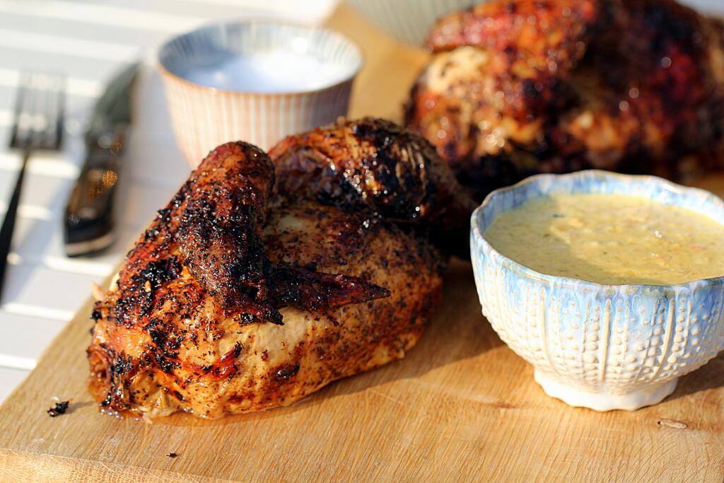 """Opskrift på hel grillet kylling - """"Halv ørn i rede..."""""""