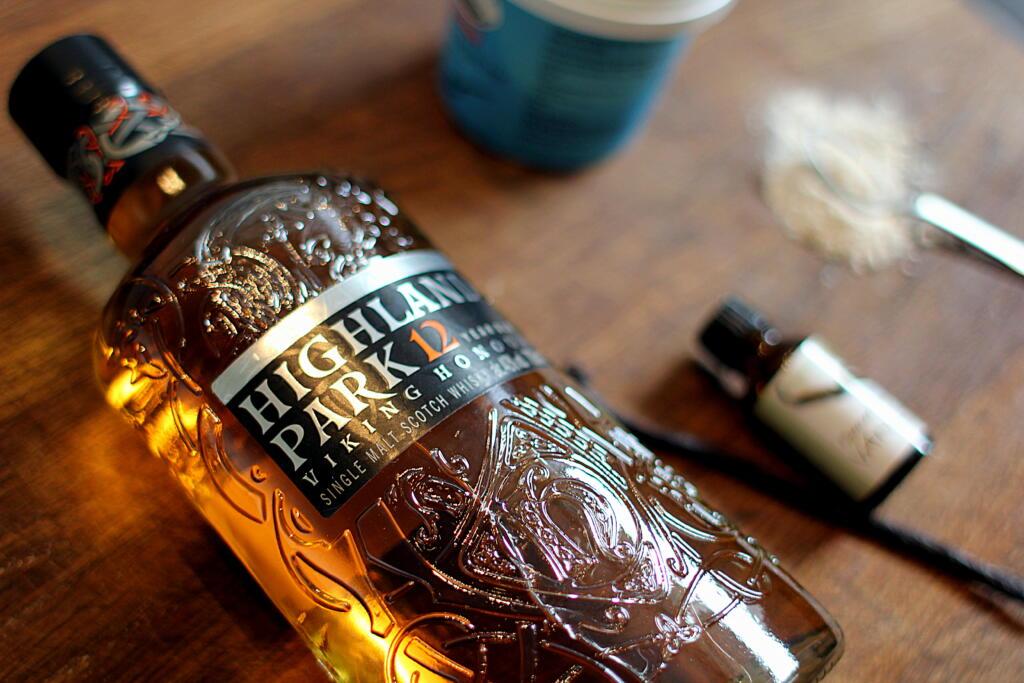 Rabarbertærte med whisky vaniljecreme...