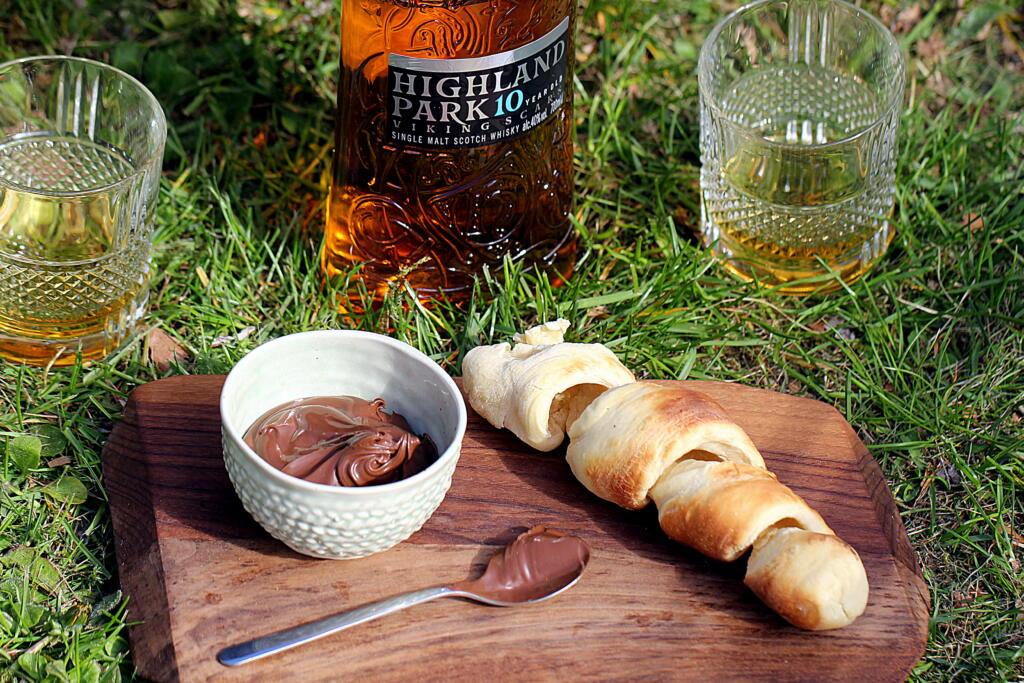 Opskrift på luksus-snobrød med whisky-Nutella