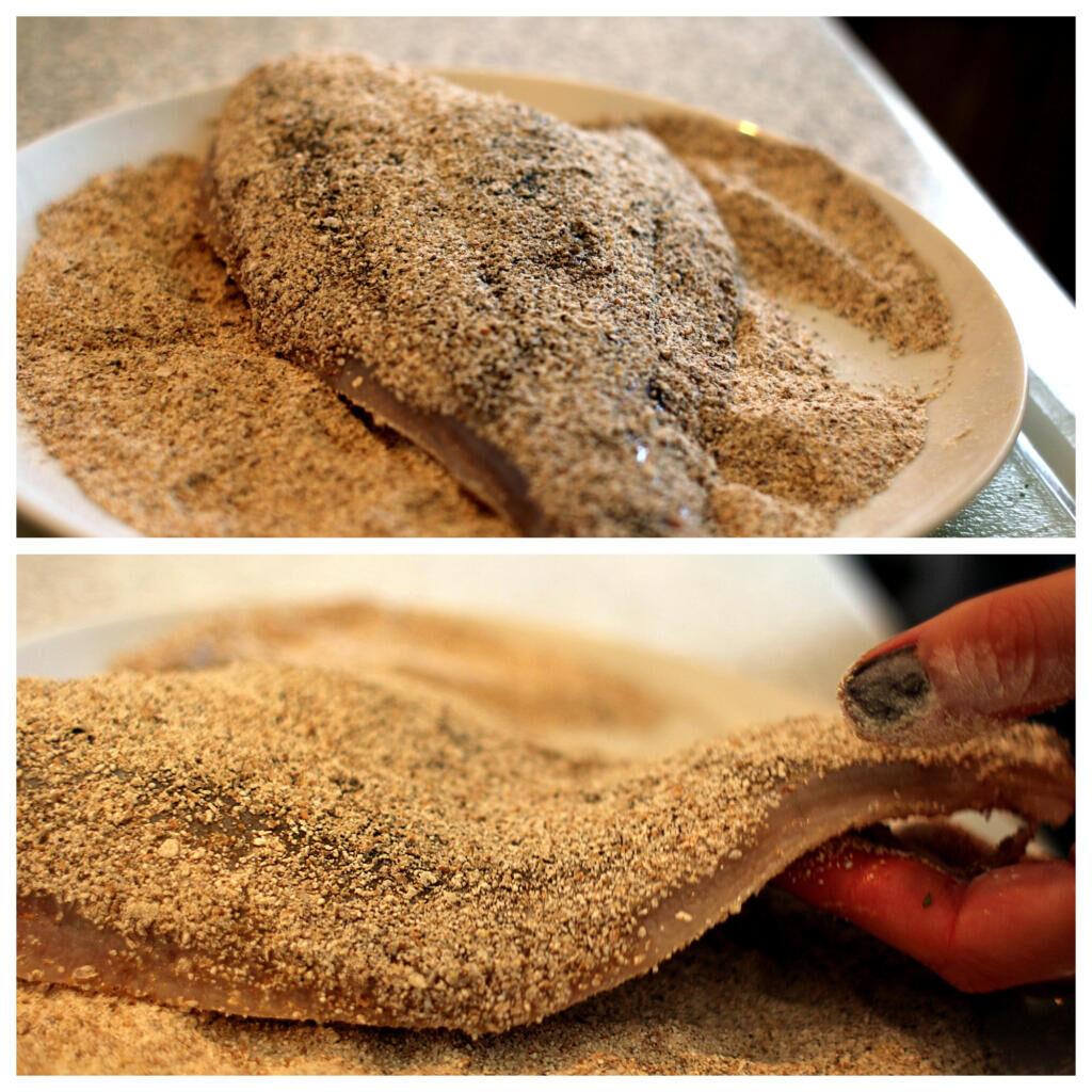 Opskrift på helstegt rødspætte med nye kartofler og kaperssmør